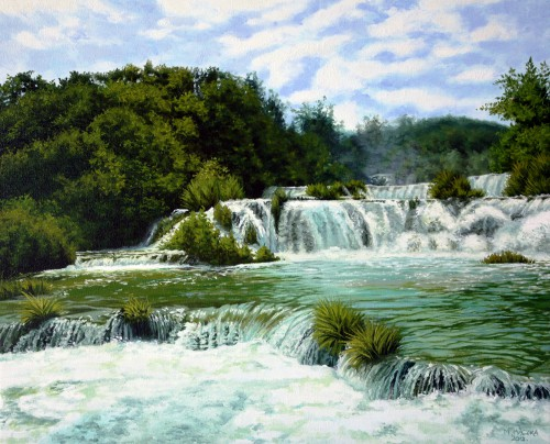 Croatian waterfalls | 50 x 61cm