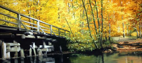 Autumn Bridge | 92 x 42 cm