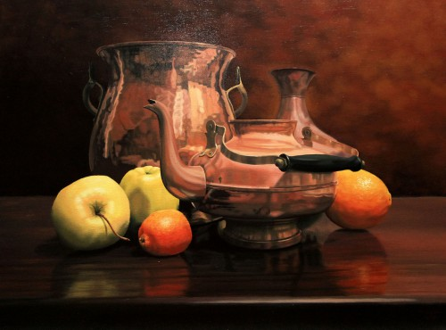 Still life with copper utensils | 60 x 80 cm