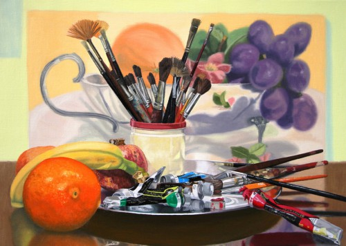 Still life with brushes | 50 x 70cm