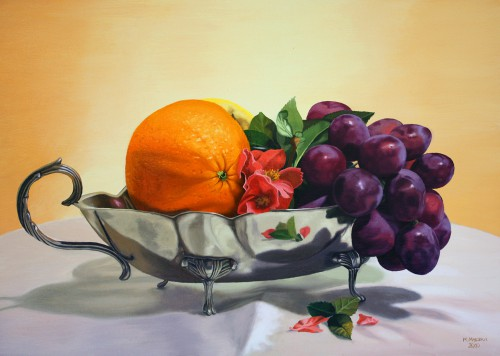 Fruits on the Cake Stand | 70 x 50 cm