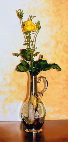 Rose in a Decanter | 80 x 40 cm