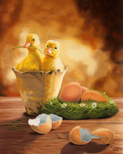 Easter Ducks | 50 x 40 cm