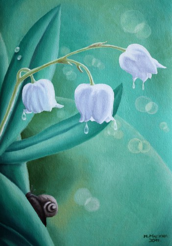 Lilies of the Valley | 35 x 25 cm