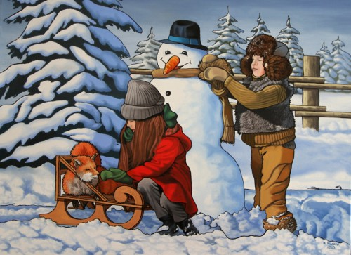 We will make a snowman today 60cm | 80cm