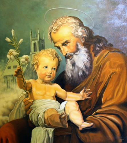 Saint Joseph with the Child Jesus (copy) | 90 x 75 cm
